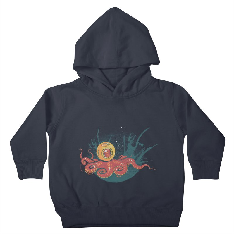 Deep Sea Diver Kids Toddler Pullover Hoody by louisehubbard's Artist Shop