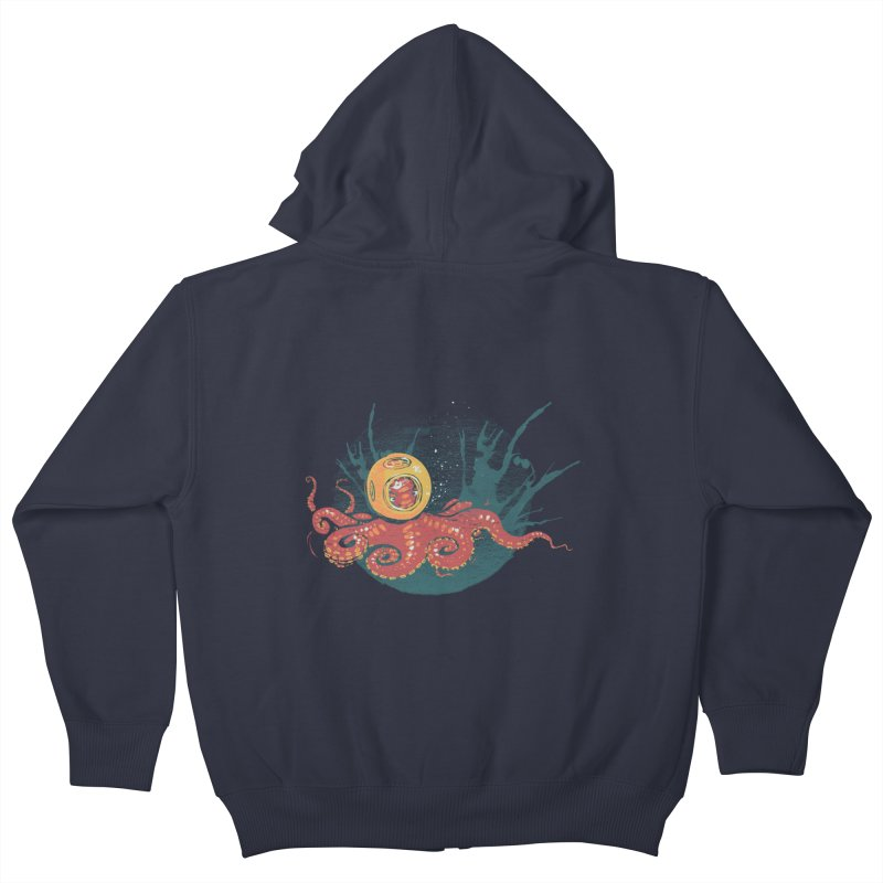 Deep Sea Diver Kids Zip-Up Hoody by louisehubbard's Artist Shop