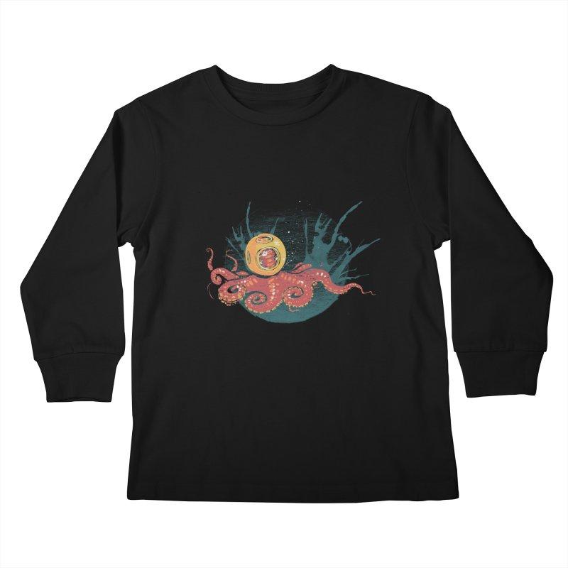 Deep Sea Diver Kids Longsleeve T-Shirt by louisehubbard's Artist Shop