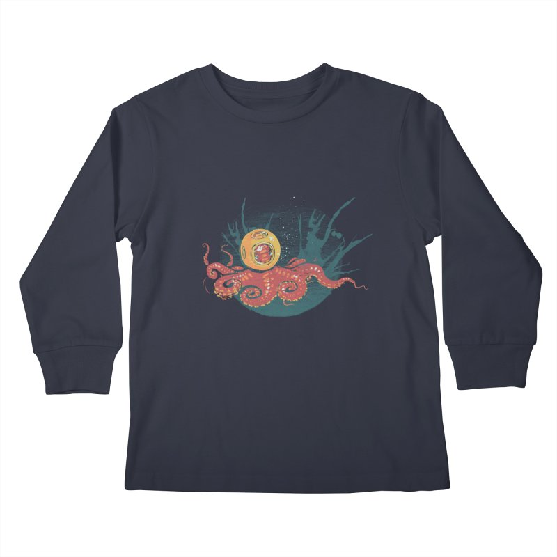 Deep Sea Diver Kids Longsleeve T-Shirt by louisehubbard's Artist Shop