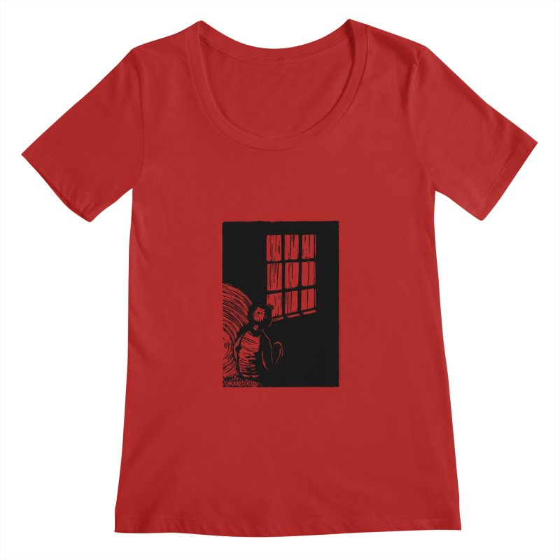 Tintin Women's Scoopneck by louisehubbard's Artist Shop