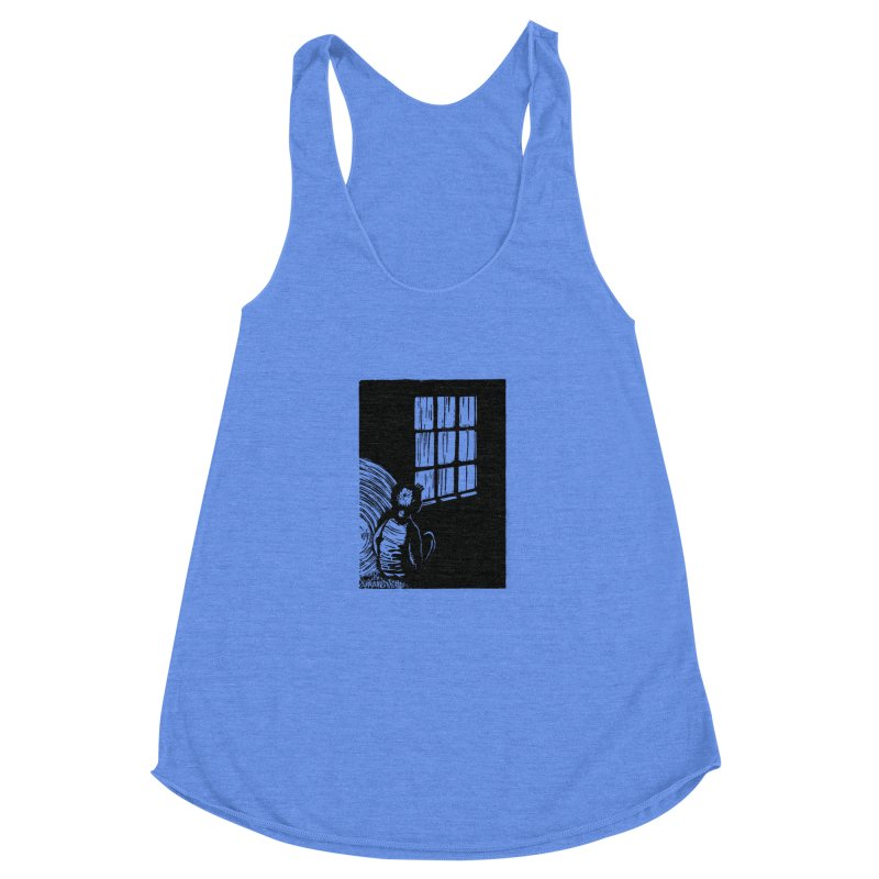 Tintin Women's Racerback Triblend Tank by louisehubbard's Artist Shop