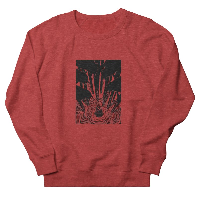 Mocking Jay Men's French Terry Sweatshirt by louisehubbard's Artist Shop
