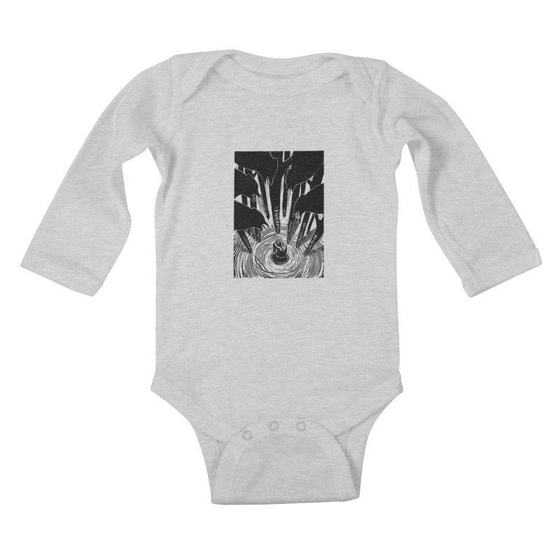 Mocking Jay Kids Baby Longsleeve Bodysuit by louisehubbard's Artist Shop