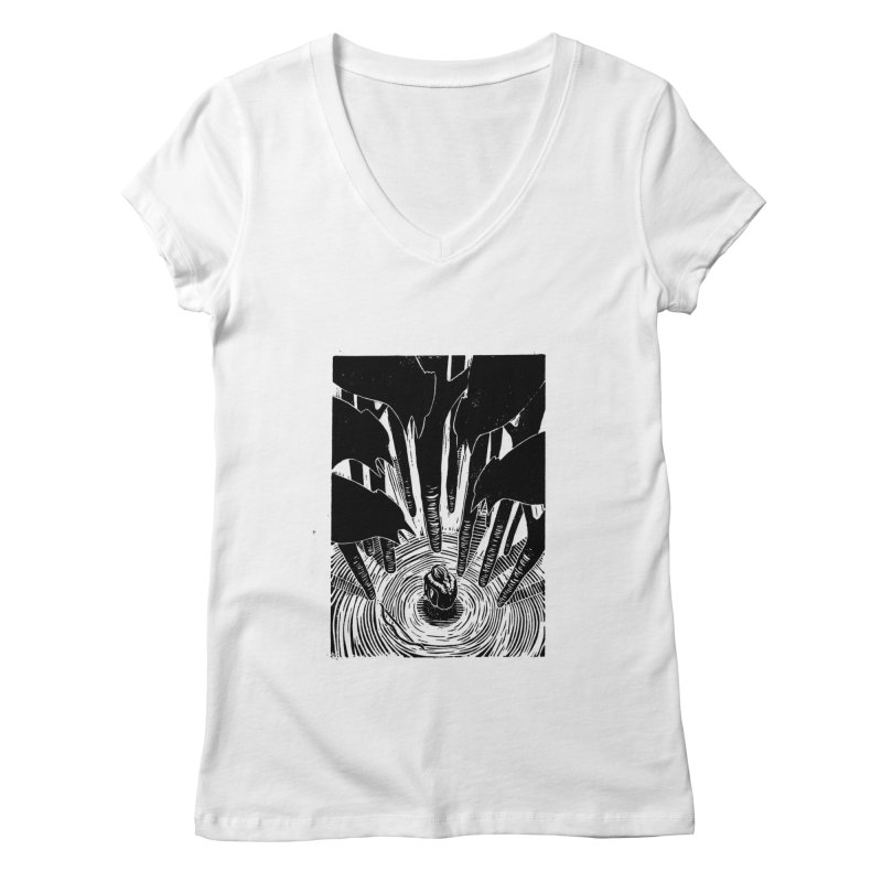Mocking Jay Women's V-Neck by louisehubbard's Artist Shop