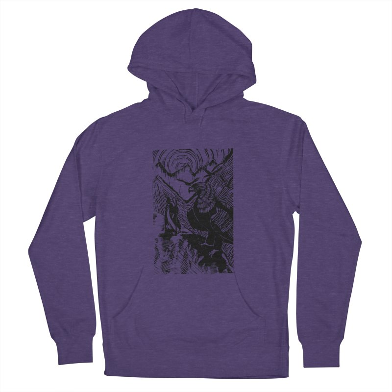 Meeting the Eagles Women's Pullover Hoody by louisehubbard's Artist Shop