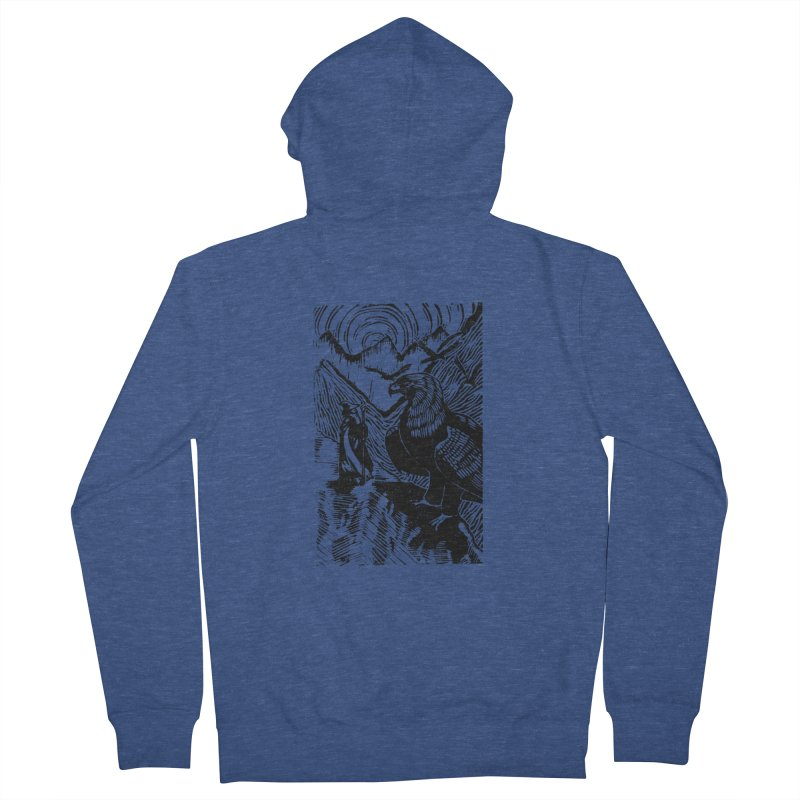 Meeting the Eagles Men's Zip-Up Hoody by louisehubbard's Artist Shop