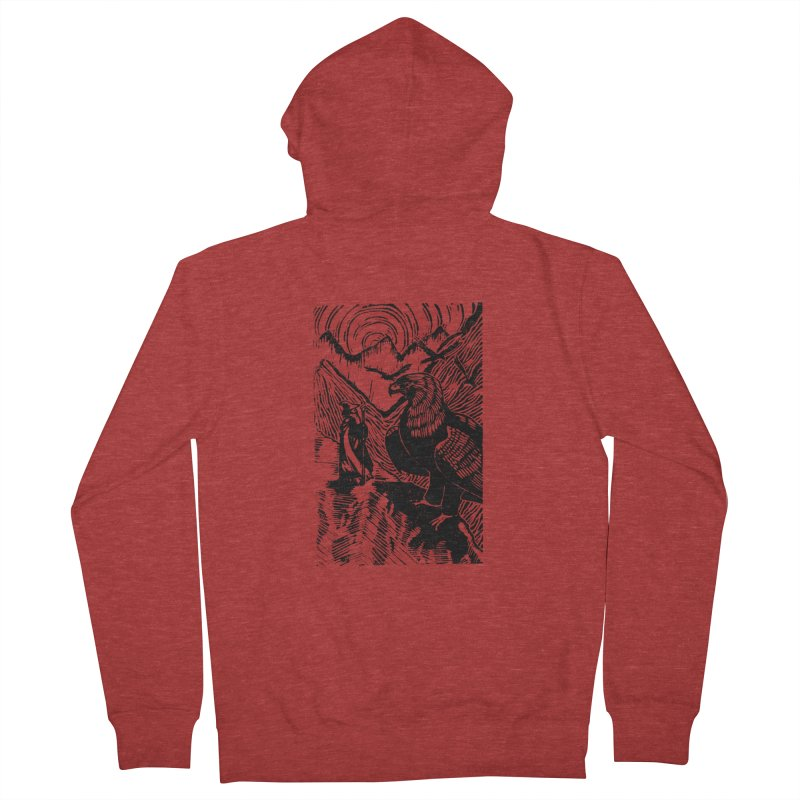 Meeting the Eagles Men's French Terry Zip-Up Hoody by louisehubbard's Artist Shop