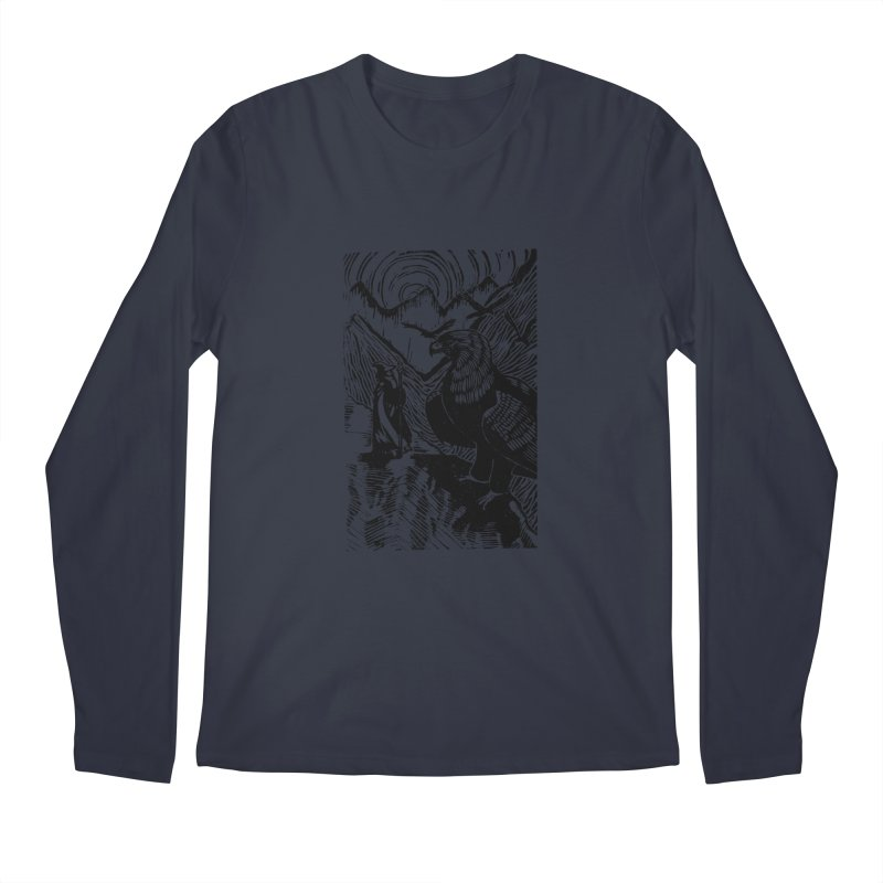 Meeting the Eagles Men's Regular Longsleeve T-Shirt by louisehubbard's Artist Shop