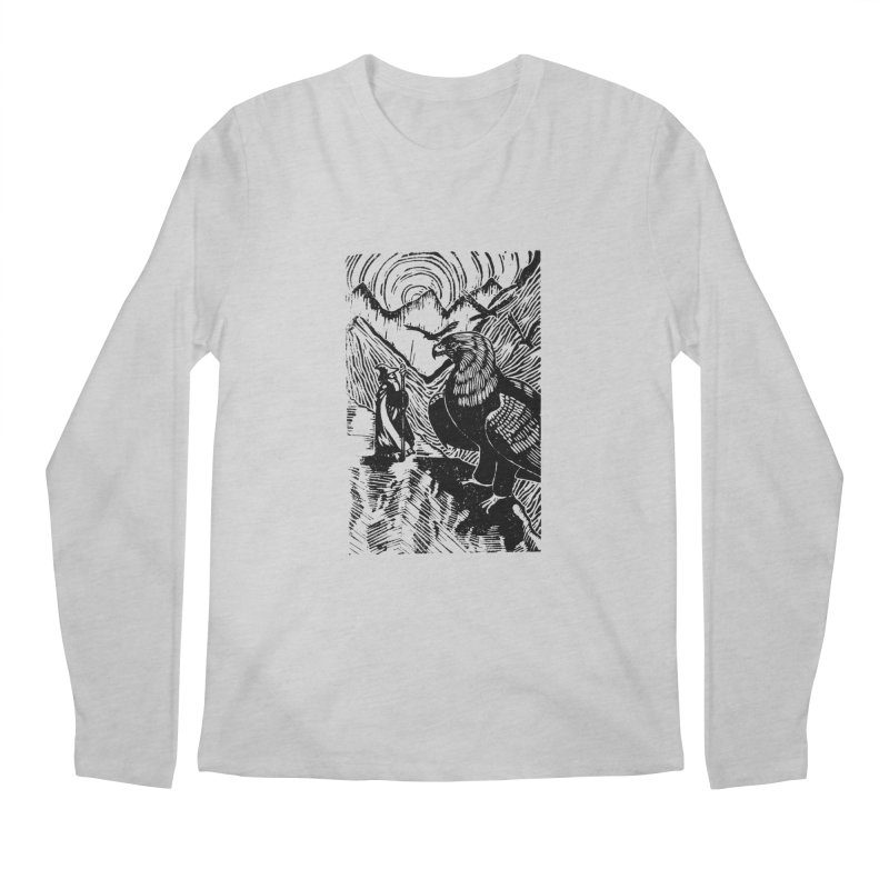 Meeting the Eagles Men's Regular Longsleeve T-Shirt by louisehubbard's Artist Shop