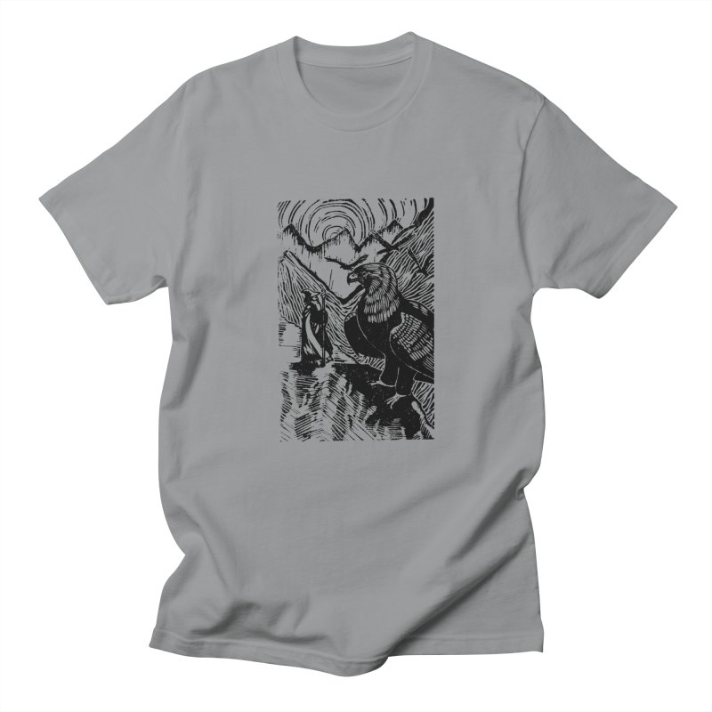 Meeting the Eagles in Men's T-Shirt Slate by louisehubbard's Artist Shop