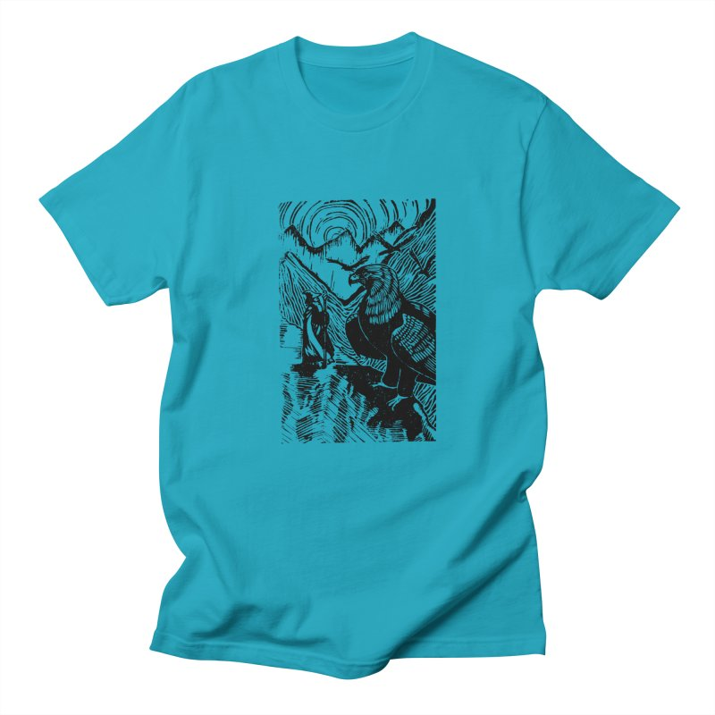 Meeting the Eagles Men's T-shirt by louisehubbard's Artist Shop