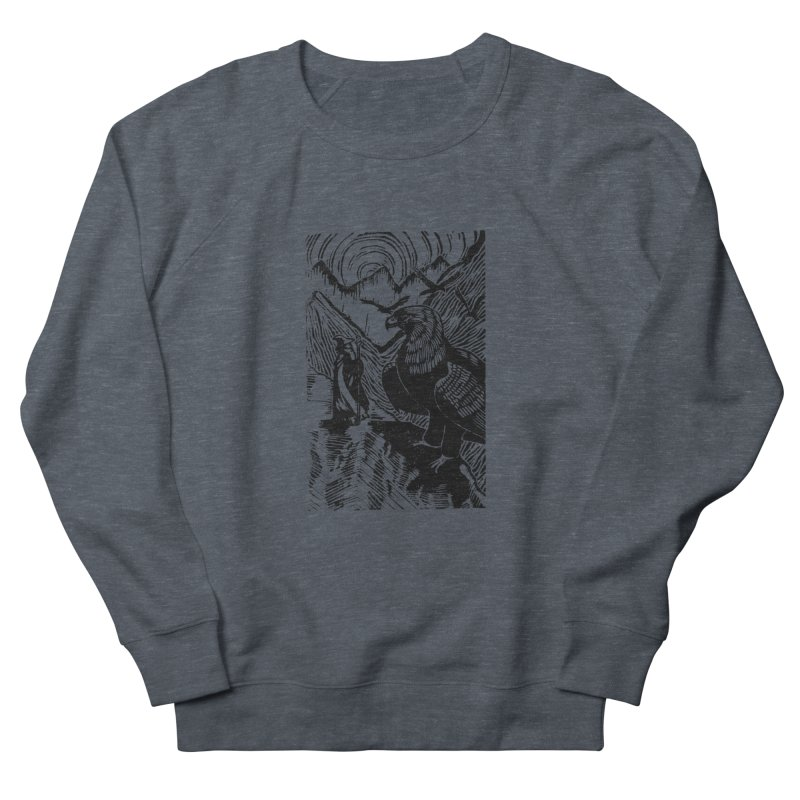 Meeting the Eagles Men's Sweatshirt by louisehubbard's Artist Shop