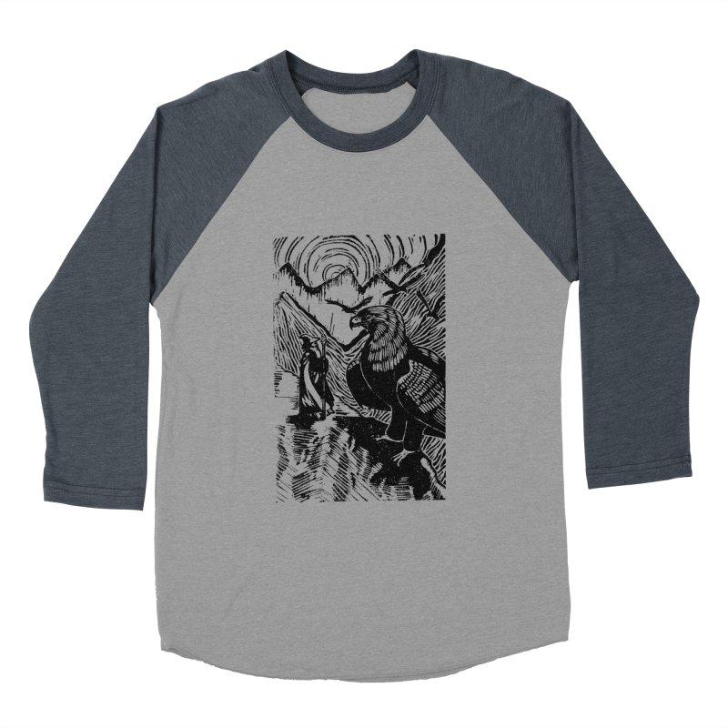 Meeting the Eagles Men's Baseball Triblend Longsleeve T-Shirt by louisehubbard's Artist Shop