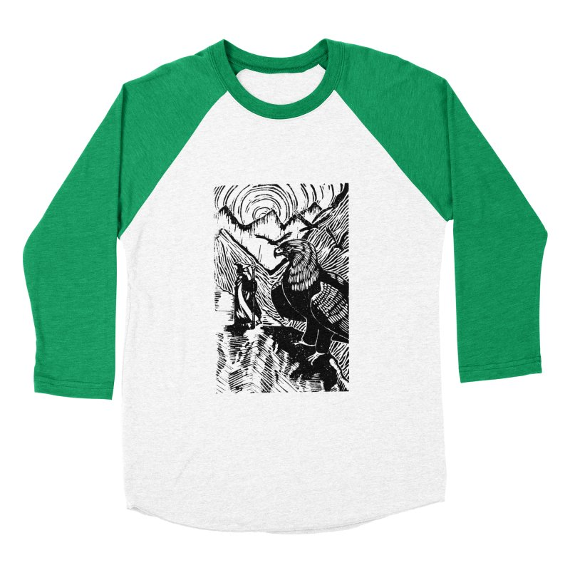 Meeting the Eagles Men's Baseball Triblend Longsleeve T-Shirt by louisehubbard's Artist Shop