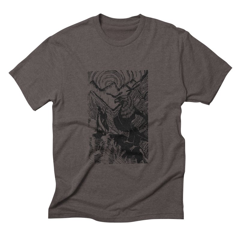 Meeting the Eagles Men's Triblend T-shirt by louisehubbard's Artist Shop