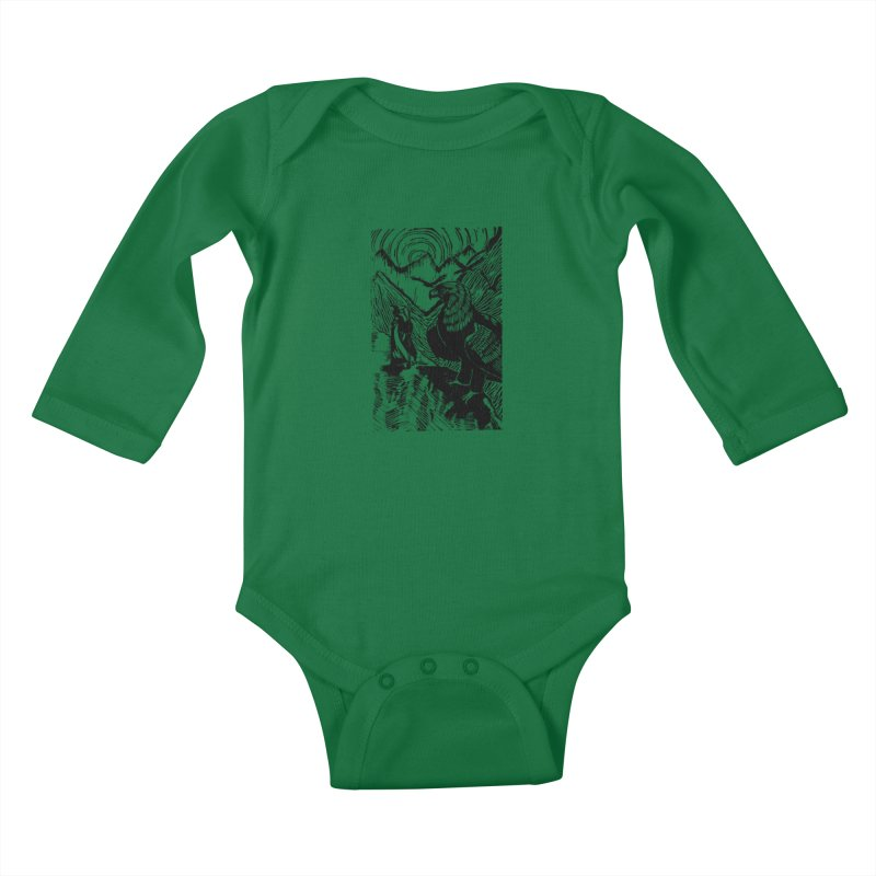 Meeting the Eagles Kids Baby Longsleeve Bodysuit by louisehubbard's Artist Shop
