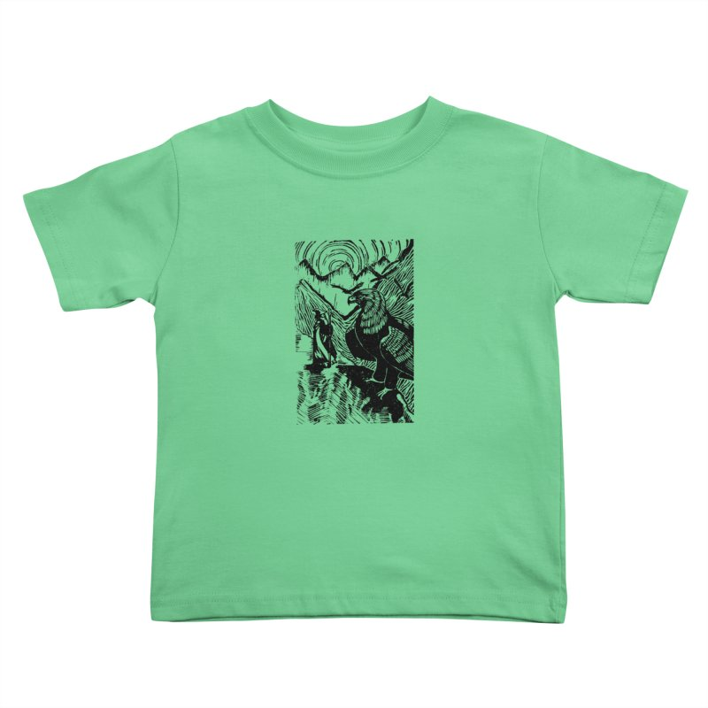 Meeting the Eagles Kids Toddler T-Shirt by louisehubbard's Artist Shop