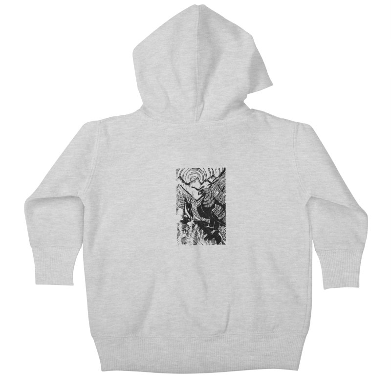 Meeting the Eagles Kids Baby Zip-Up Hoody by louisehubbard's Artist Shop