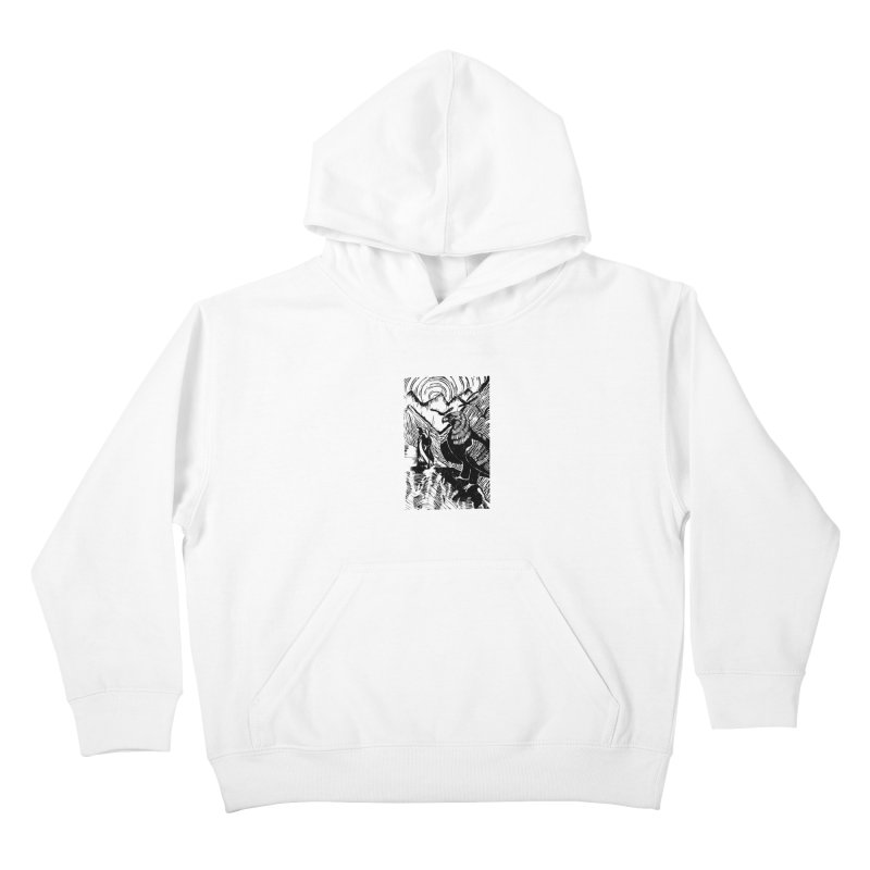 Meeting the Eagles Kids Pullover Hoody by louisehubbard's Artist Shop