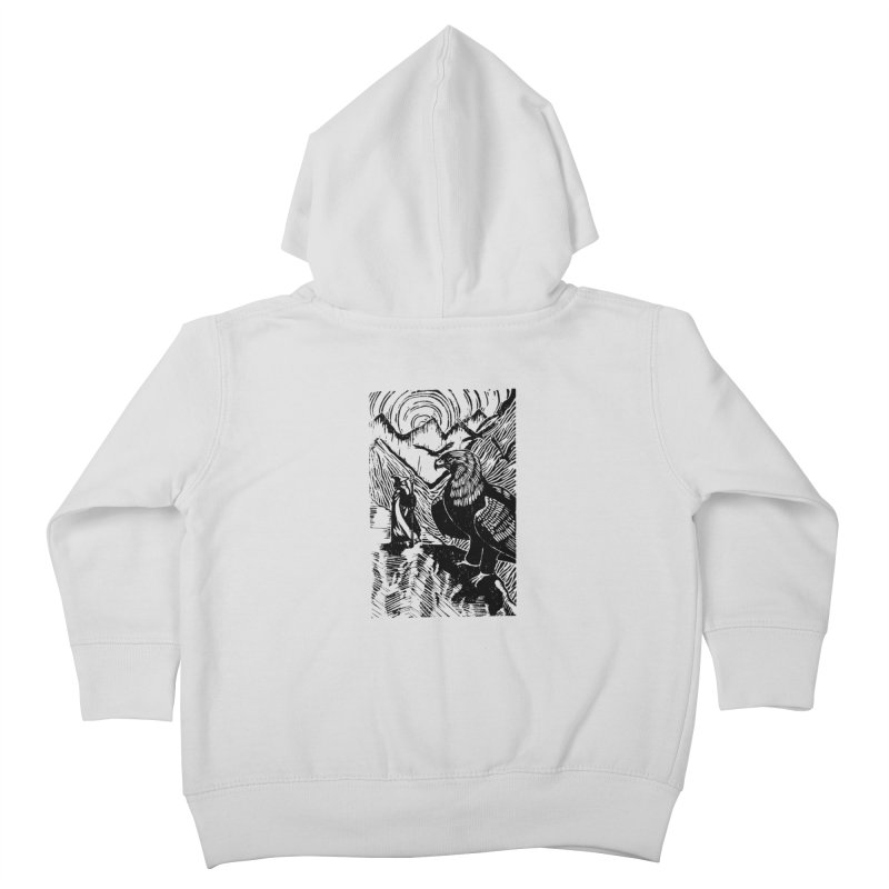 Meeting the Eagles Kids Toddler Zip-Up Hoody by louisehubbard's Artist Shop