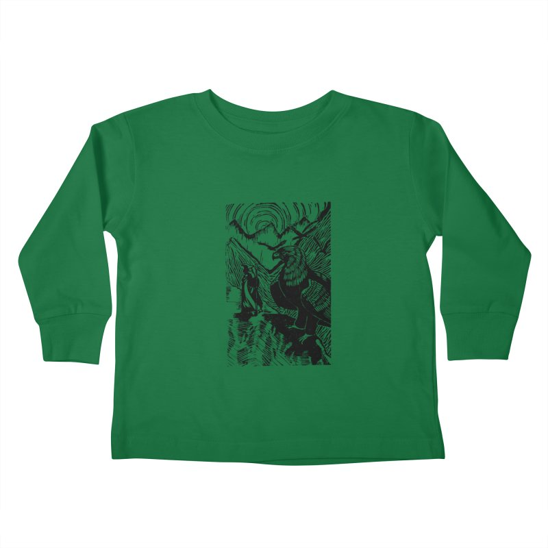 Meeting the Eagles Kids Toddler Longsleeve T-Shirt by louisehubbard's Artist Shop
