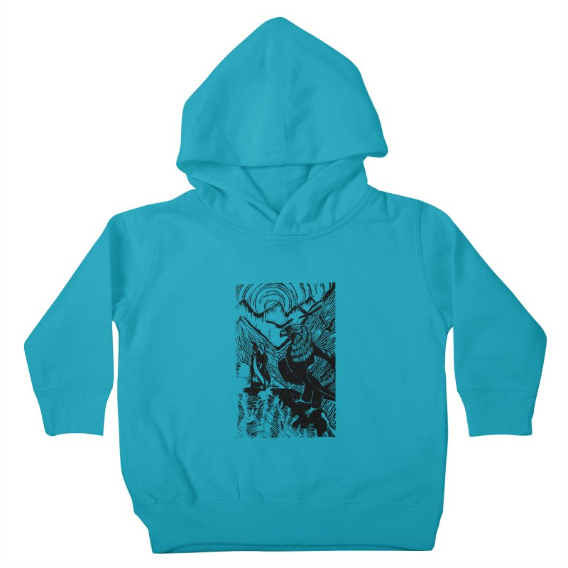 Meeting the Eagles Kids Toddler Pullover Hoody by louisehubbard's Artist Shop