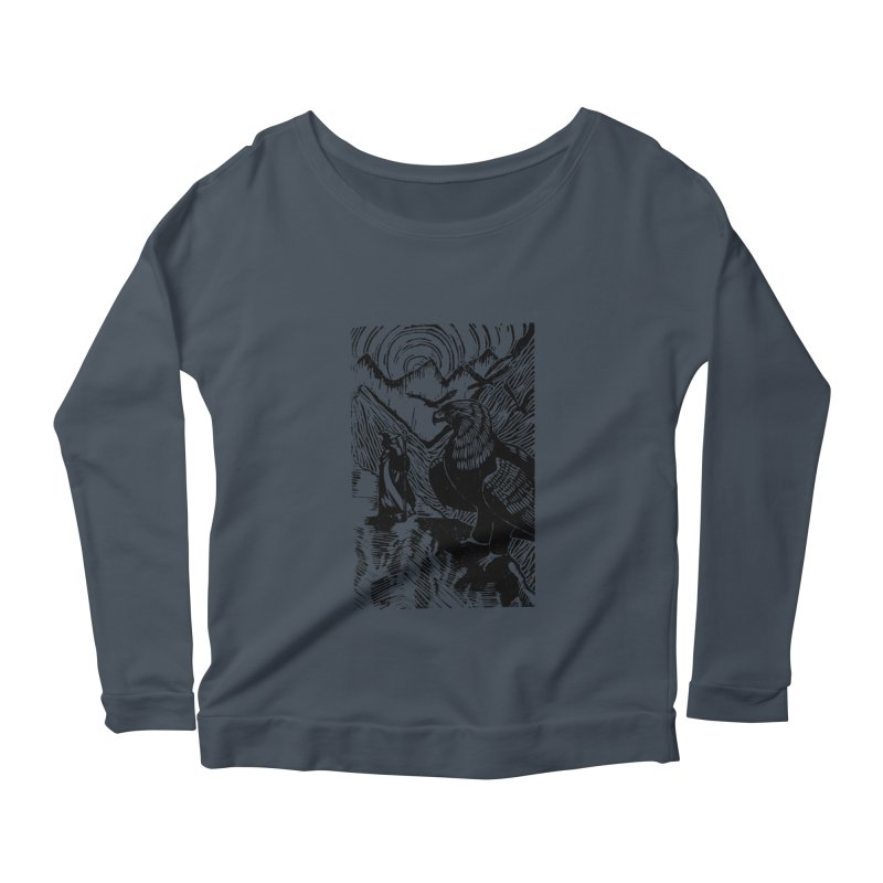 Meeting the Eagles Women's Scoop Neck Longsleeve T-Shirt by louisehubbard's Artist Shop