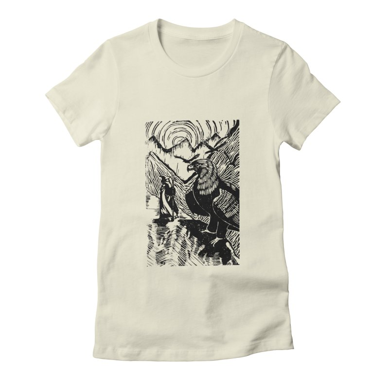 Meeting the Eagles Women's Fitted T-Shirt by louisehubbard's Artist Shop
