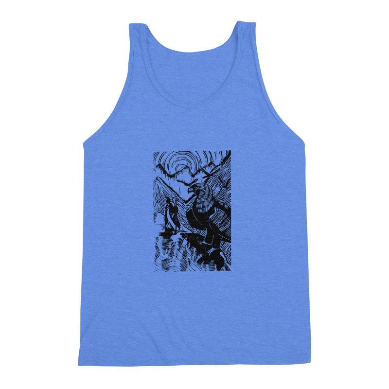Meeting the Eagles Men's Triblend Tank by louisehubbard's Artist Shop