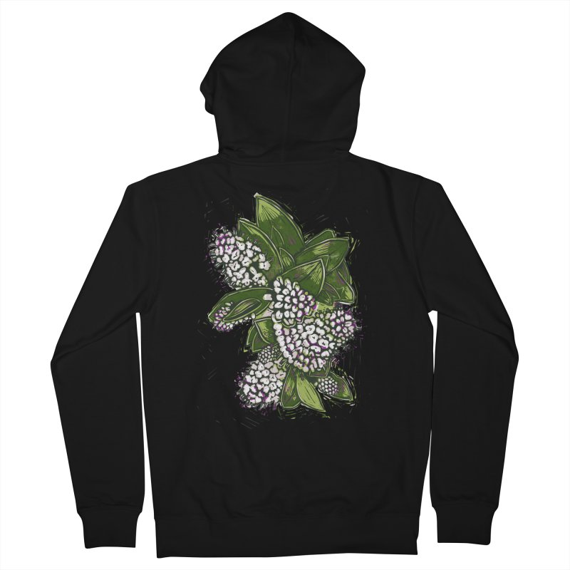 Bunch of Flowers Men's French Terry Zip-Up Hoody by louisehubbard's Artist Shop