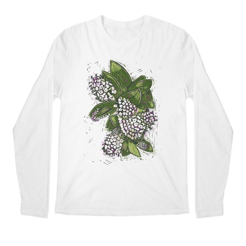 Bunch of Flowers Men's Regular Longsleeve T-Shirt by louisehubbard's Artist Shop