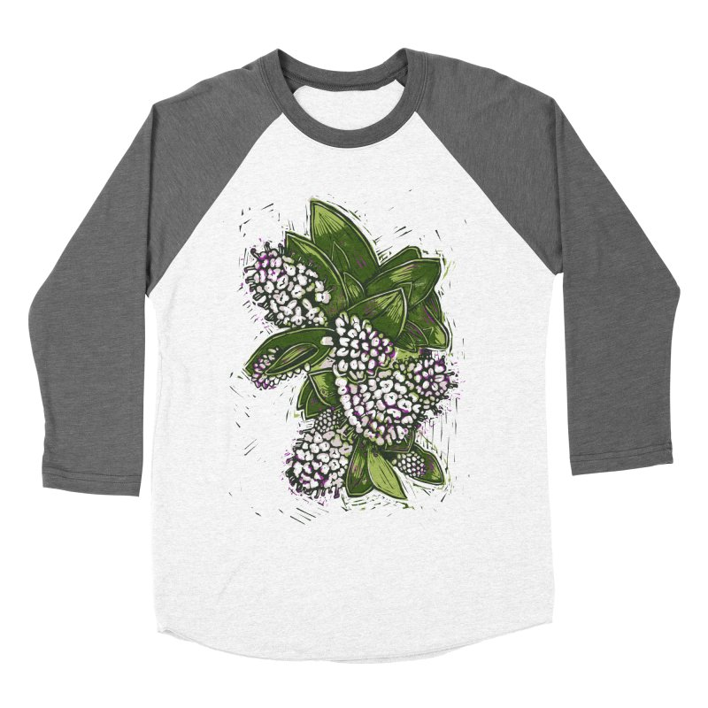 Bunch of Flowers Women's Baseball Triblend Longsleeve T-Shirt by louisehubbard's Artist Shop