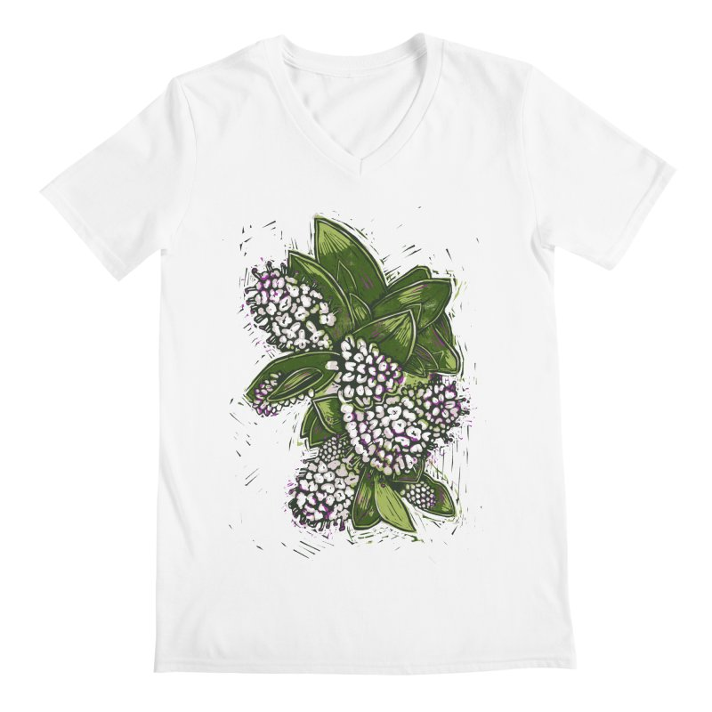 Bunch of Flowers Men's V-Neck by louisehubbard's Artist Shop