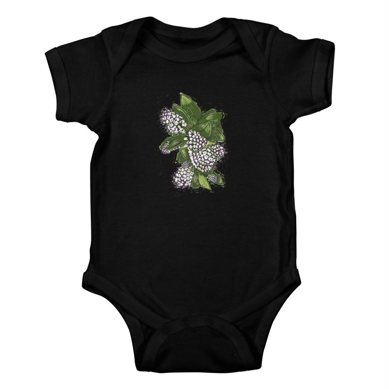 Bunch of Flowers Kids Baby Bodysuit by louisehubbard's Artist Shop