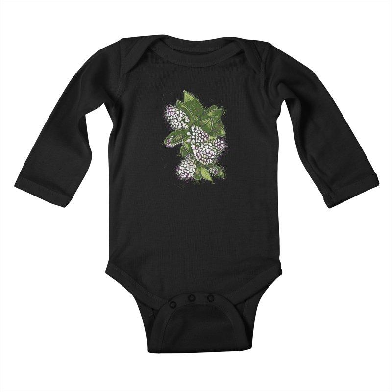 Bunch of Flowers Kids Baby Longsleeve Bodysuit by louisehubbard's Artist Shop
