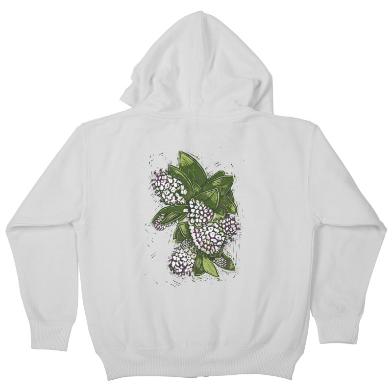 Bunch of Flowers Kids Zip-Up Hoody by louisehubbard's Artist Shop
