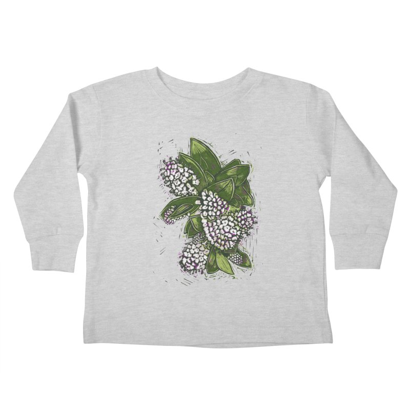 Bunch of Flowers Kids Toddler Longsleeve T-Shirt by louisehubbard's Artist Shop