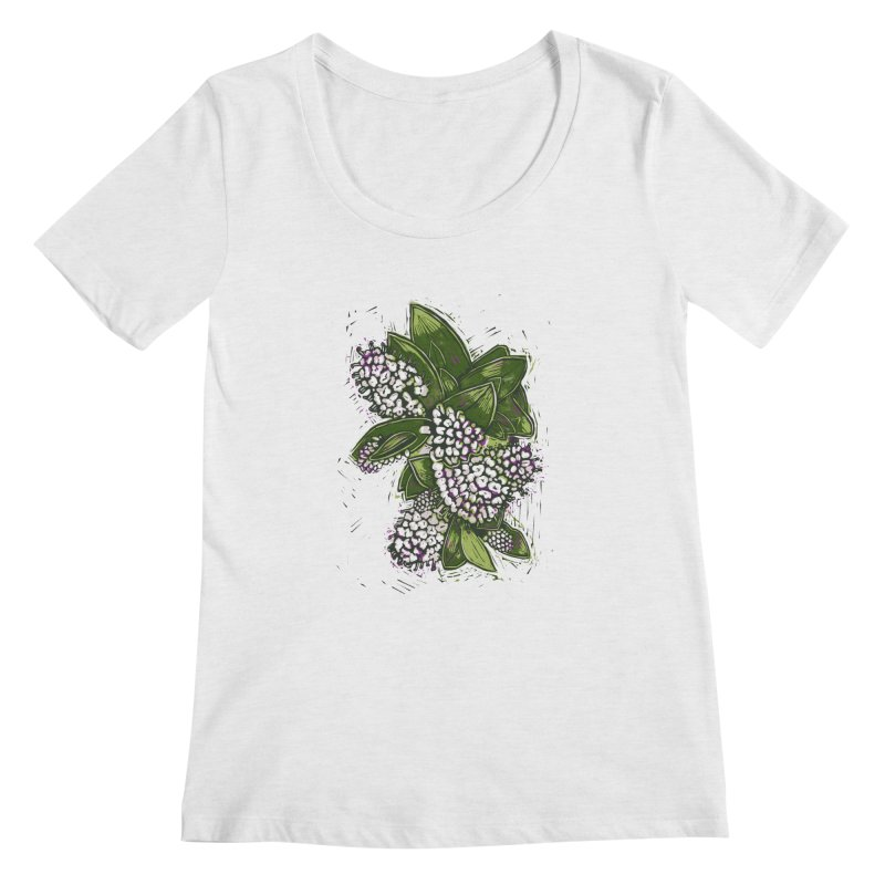 Bunch of Flowers Women's Scoopneck by louisehubbard's Artist Shop
