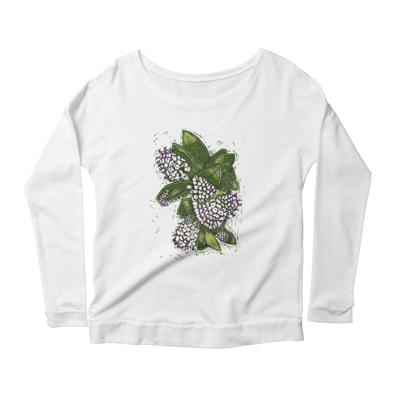 Bunch of Flowers Women's Scoop Neck Longsleeve T-Shirt by louisehubbard's Artist Shop
