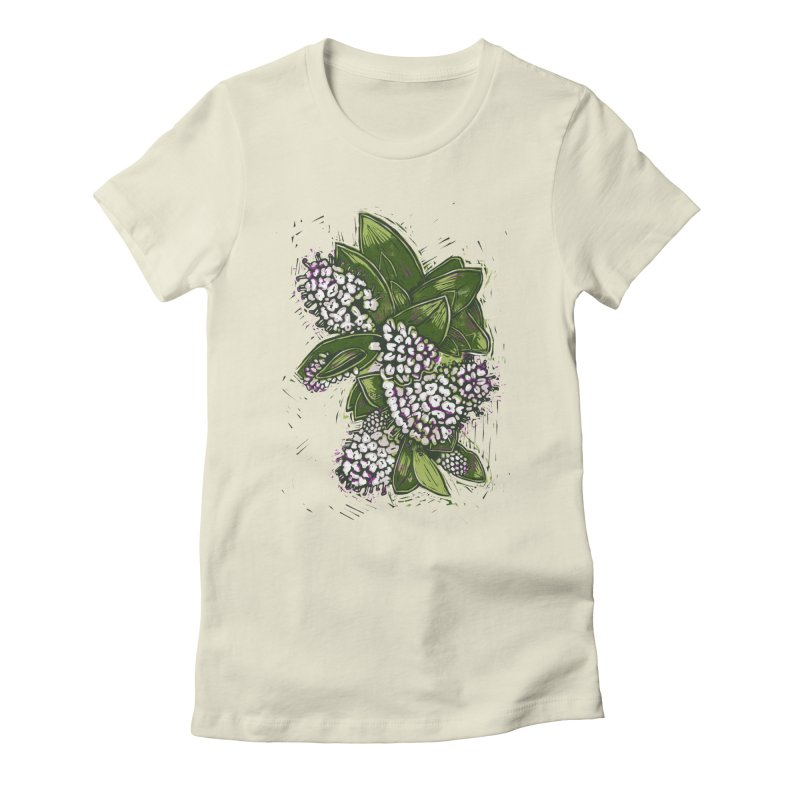 Bunch of Flowers Women's Fitted T-Shirt by louisehubbard's Artist Shop