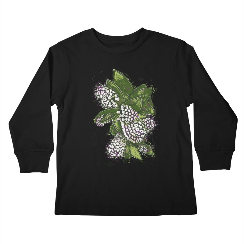 Bunch of Flowers Kids Longsleeve T-Shirt by louisehubbard's Artist Shop