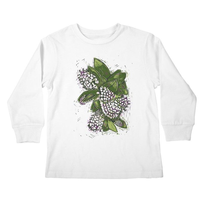 Bunch of Flowers Kids Longsleeve T-Shirt by louisehubbard's Artist Shop