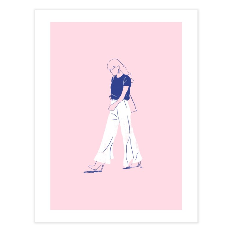 These flares were made for walking Home Fine Art Print by Louise Walker Design & Shop