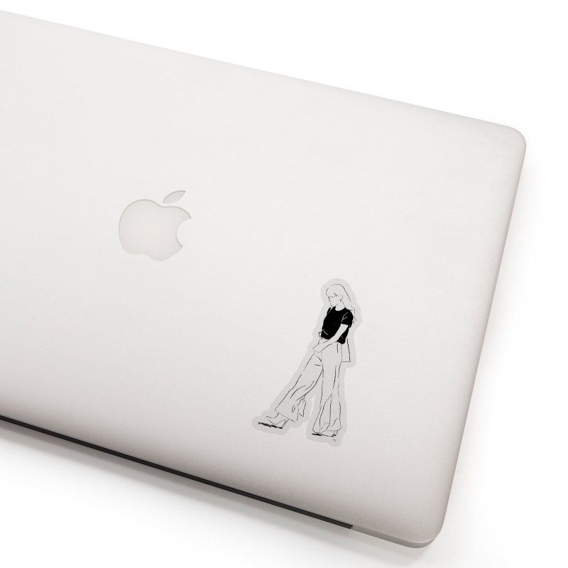 These flares were made for walking (in black) Accessories Sticker by Louise Walker Design & Shop