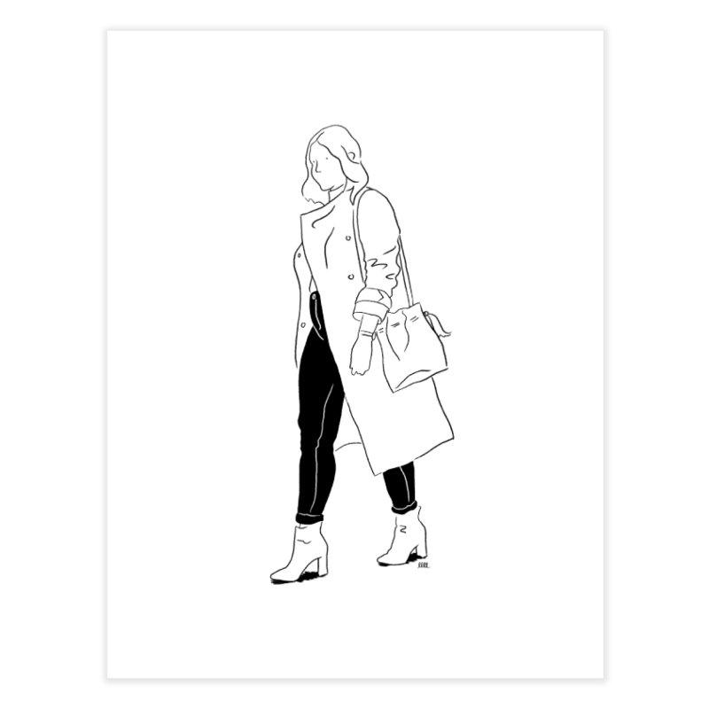 Jean Genie (in black) Home Fine Art Print by Louise Walker Design & Shop