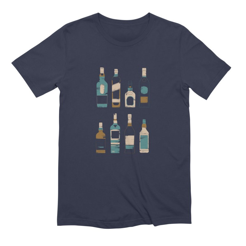 Whiskey Business Men's Extra Soft T-Shirt by Louise Walker Design & Shop