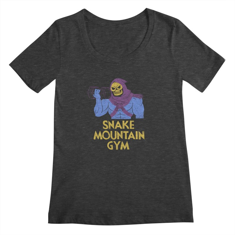 snake mountain gym Women's Scoopneck by louisros's Artist Shop