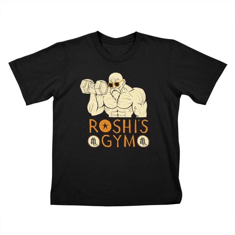 roshis gym Kids T-shirt by louisros's Artist Shop