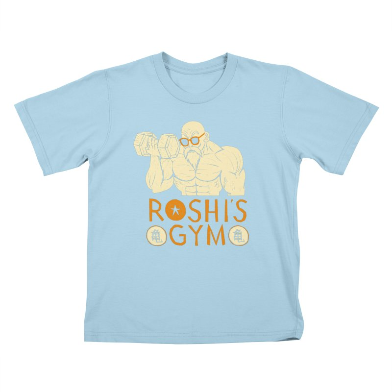 roshis gym Kids T-Shirt by louisros's Artist Shop